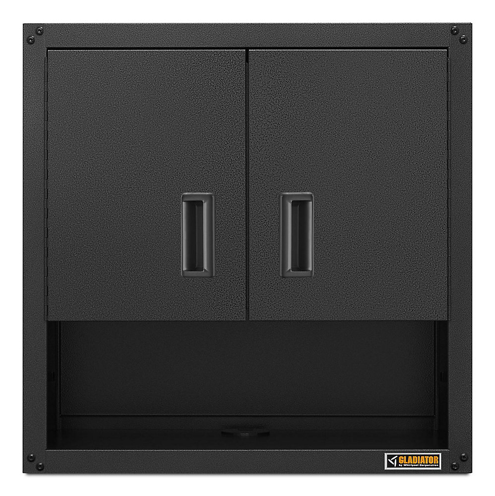Ready-to-Assemble 28-inch H x 28-inch W x 12-inch D Steel Garage Wall Cabinet with Shelf in Hammered Slate