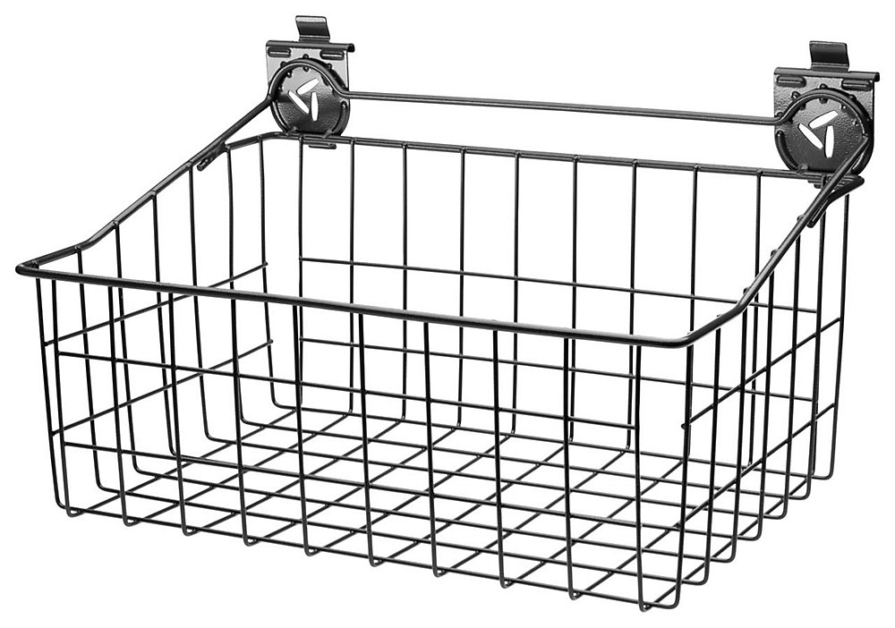 18-inch W x 12-inch D Ventilated Wire Basket Garage Storage for GearTrack or GearWall