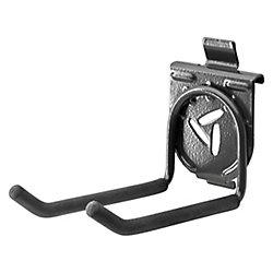 Gladiator 4,25 po H x 2,75 po L x 6,5 po D Crochet double pour rail d'engrenage ou mur d'engrenage