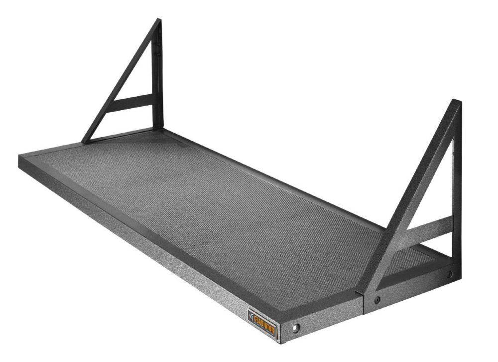 Gladiator Premier Series 45-inch W x 20-inch D GearLoft Steel Garage Shelf in Hammered Granite