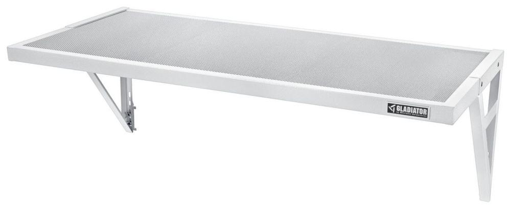 Gladiator Premier Series 45-inch W x 20-inch D GearLoft Steel Garage Shelf in White