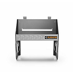 12-inch W x 6.5-inch D Silver Tread Plate Steel Clean-Up Caddy Garage Storage for GearTrack or GearWall