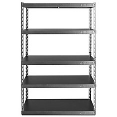 Enjoyable Ez Connect 48 Inch W Rack With Five 18 Inch D Shelves In Hammered Granite Home Interior And Landscaping Ologienasavecom