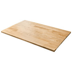 28-inch W Hardwood Worktop for Ready-to-Assemble Garage Cabinets