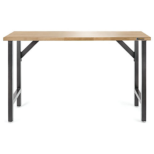 Ready-to-Assemble 66.5-inch W x 39-inch H x 20-inch D Hardwood Top Workbench