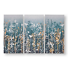 Set of 3 Wildflower Meadow Printed Canvas Wall Art