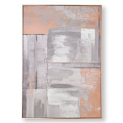 Graham & Brown Rose Gold Glow Abstract Handpainted Wall Art