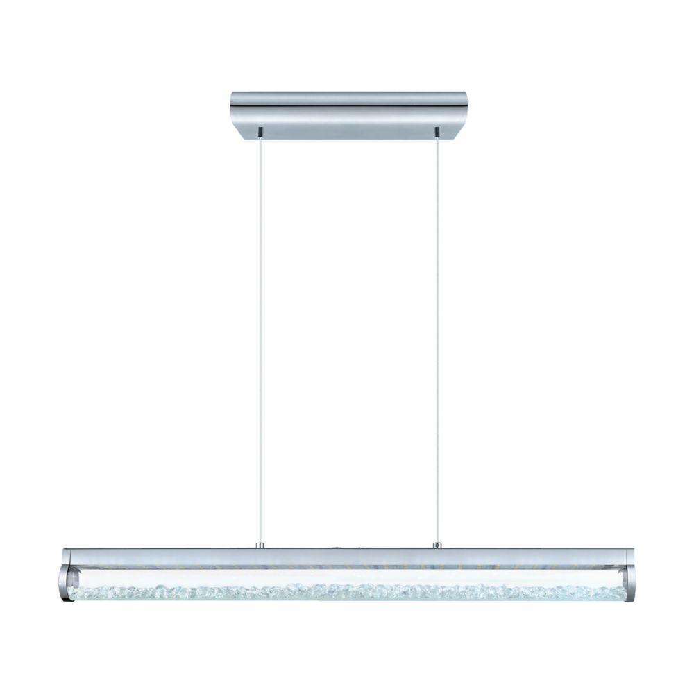 Eglo Canada Trevelo LED Pendant, Chrome Finish with Clear Crystals