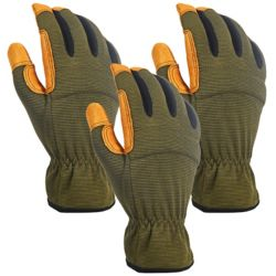 Firm Grip 3 Pair Hybrid Pigskin
