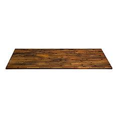 72 inch  x 25.5 inch  x 1.5 inch  Acacia Wood Kitchen Countertop Brown