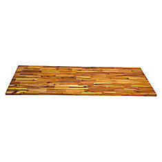 72 inch  x 25.5 inch  x 1.5 inch  Acacia Wood Kitchen Countertop Light Oak