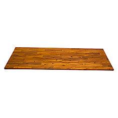 72 inch x 25.5 inch x 1.5 inch Acacia Wood Kitchen Countertop Golden Teak