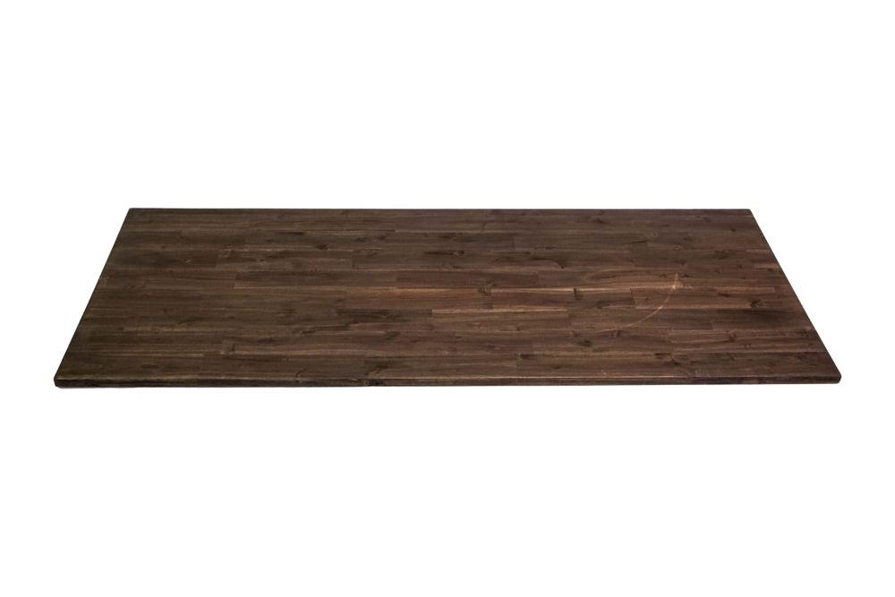 Home Decorators Collection 72 inch x 25.5 inch x 1.5 inch Acacia Wood Kitchen Countertop Espresso