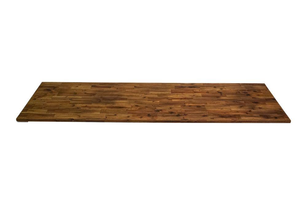 96 Inch X 25.5 Inch X 1 Inch Acacia Wood Kitchen Countertop Brown