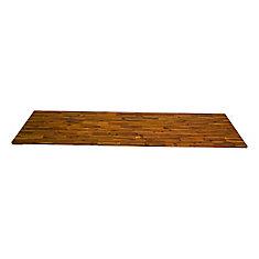 96 inch x 25.5 inch x 1 inch Acacia Wood Kitchen Countertop Golden Teak