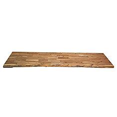 Comptoir de cuisine en bois Acacia Bord inachevé - 96 po x 25.5 po x 1.5 po