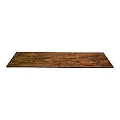 96 inch x 25.5 inch x 1.5 inch Acacia Wood Kitchen Countertop Brown