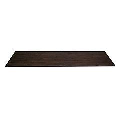 96 inch x 25.5 inch x 1.5 inch Acacia Wood Kitchen Countertop Espresso
