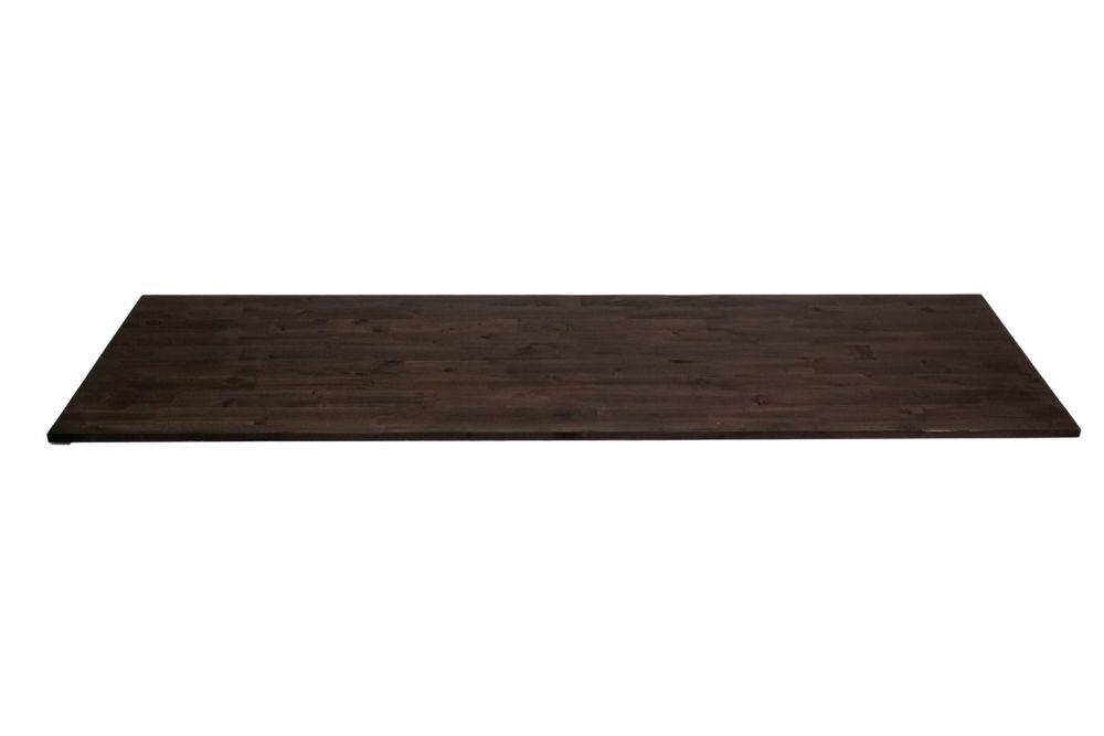 INTERBUILD Comptoir de cuisine en bois Acacia en espresso - 96 po x 25.5 po x 1.5 po