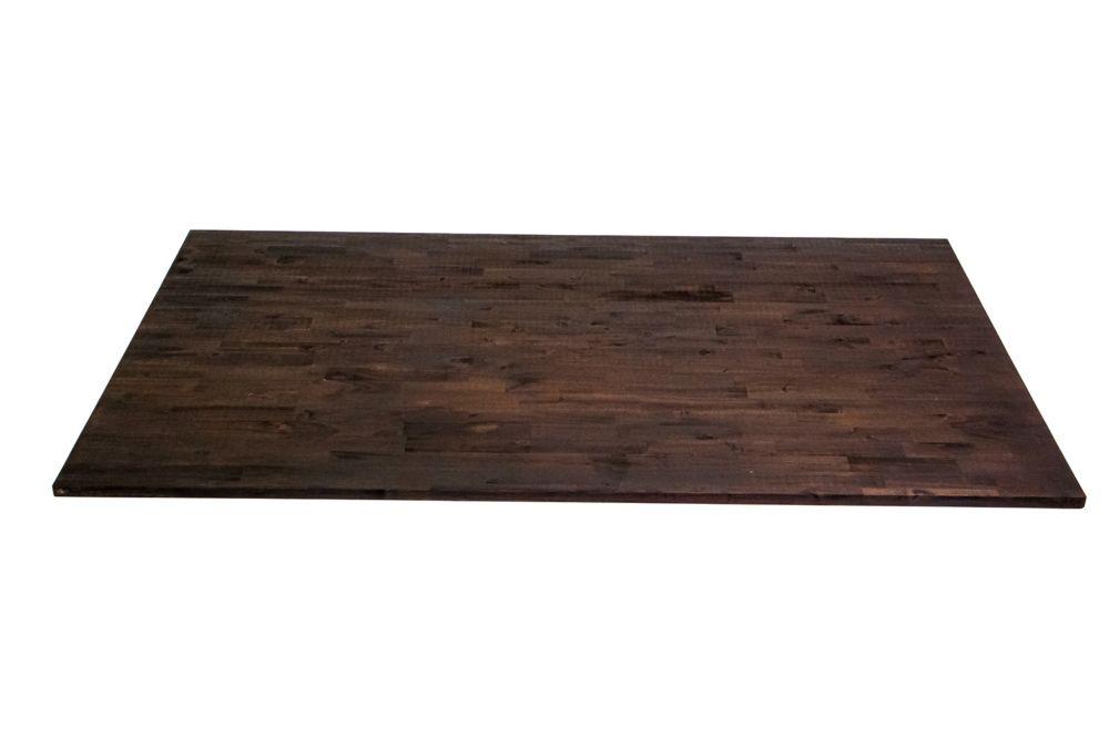 Home Decorators Collection 74 inch  x 40 inch  x 1 inch   Acacia Wood Kitchen Islandtop Espresso