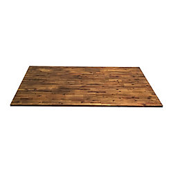 INTERBUILD 74 inch  x 40 inch  x 1.5 inch  Acacia Wood Kitchen Islandtop Brown