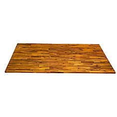 74 inch x 40 inch x 1.5 inch Acacia Wood Kitchen Islandtop Light Oak