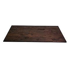 74 inch x 40 inch x 1.5 inch Acacia Wood Kitchen Islandtop Espresso