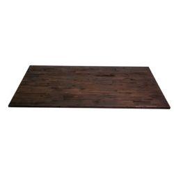 INTERBUILD Comptoir de cuisine en bois Acacia en espresso - 74 po x 40 po x 1.5 po