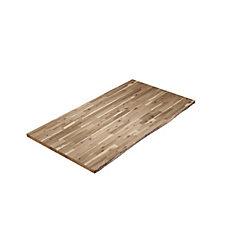 74 inch x 40 inch x 2 inch Acacia Wood Kitchen Islandtop Unfinished Live Edge