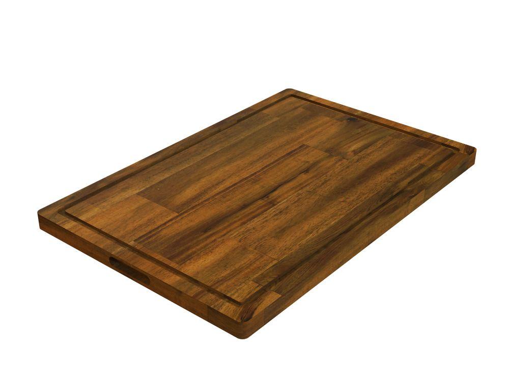 INTERBUILD 16 inch x 24 inch x 1 inch Butcher Block Cutting Boards Brown