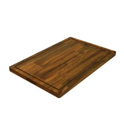 INTERBUILD 16 inch x 24 inch x 1 inch Butcher Block Cutting Boards Brown