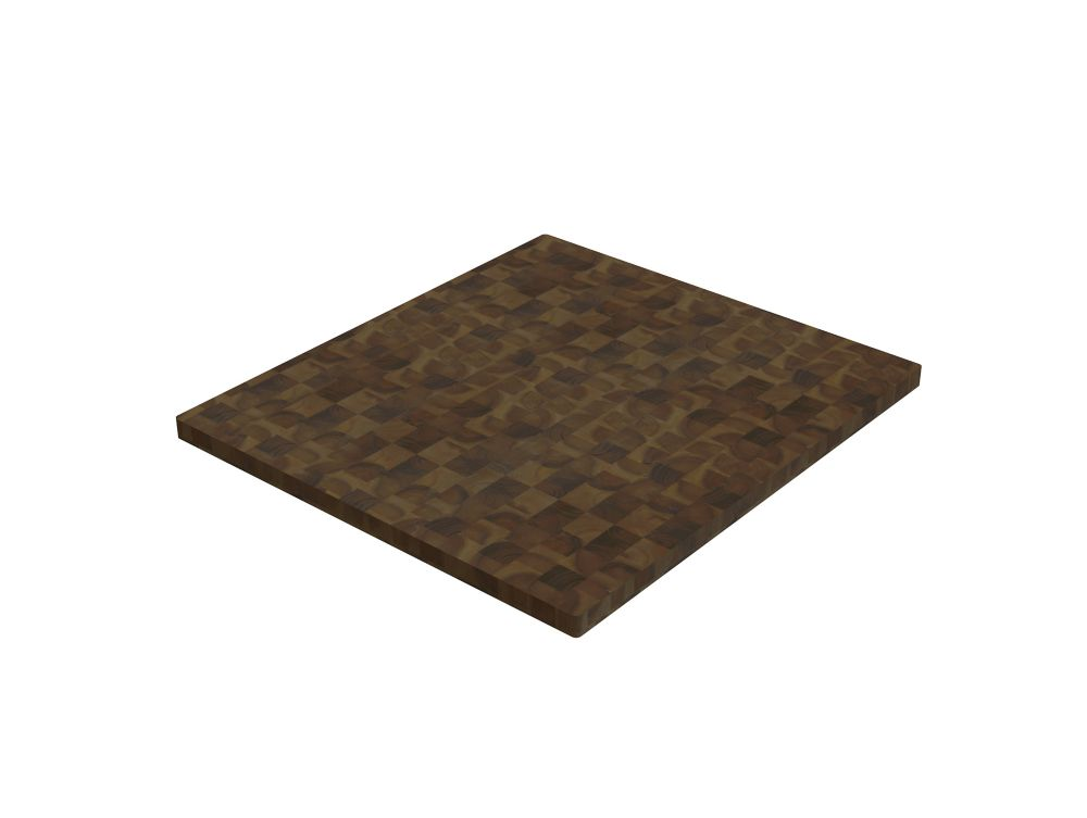 INTERBUILD 12 inch x 16 inch x 1.5 inch Butcher Block Cutting Boards Brown