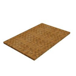 INTERBUILD 32 inch x 25.5 inch x 1.5 inch Butcher Block Cutting Boards Golden Teak