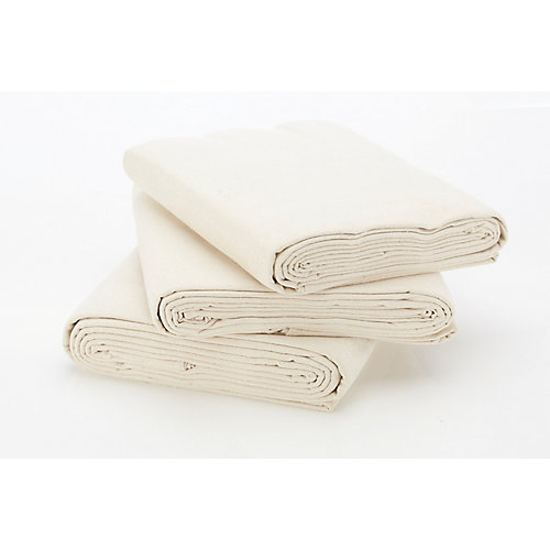 Heavy Duty Cotton Canvas 9ft x 12ft (2.74m x 3.66m) Drop Cloth (3-Pack)