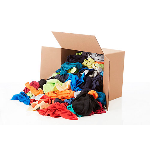 Contractor Pack of Colored Rags - 15 lb box