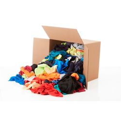 Stain Pro Contractor Pack of Colored Rags - 15 lb box