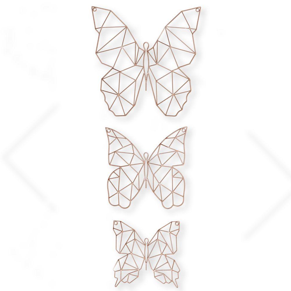 Graham U0026 Brown Set Of 3 Flutter Metal Wall Art