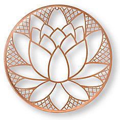 Art Mural en Métal Fleur de Lotus