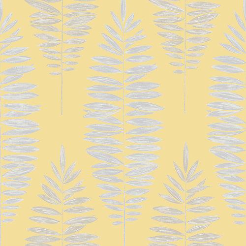 Sensational Graham Brown Lucia Yellow Silver Removable Wallpaper The Home Depot Canada Interior Design Ideas Skatsoteloinfo