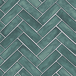Graham & Brown Lustro Teal Removable Wallpaper
