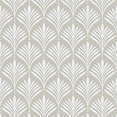 Bonnie Geo Gold/White Removable Wallpaper Sample