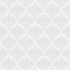 Bonnie Geo White Removable Wallpaper Sample