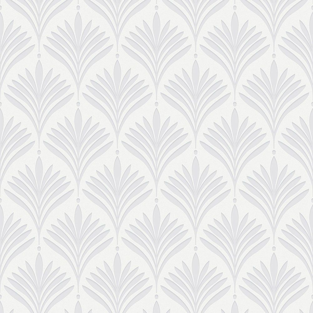 Graham & Brown Bonnie Geo White Removable Wallpaper