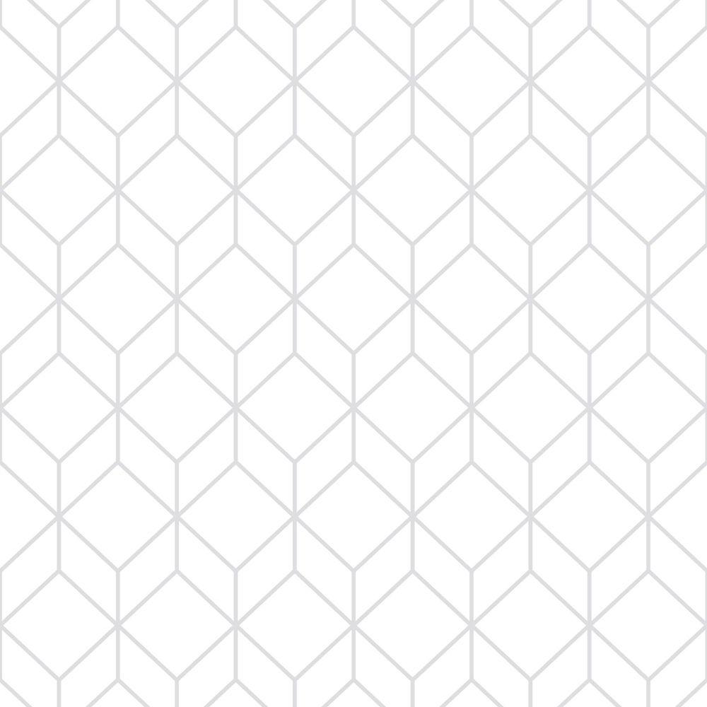 e77e81c8376 Graham   Brown Myrtille Géo Blanc Argent Papier Peint Amovible ...