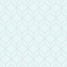 Myrtle Geo Aqua/Silver Removable Wallpaper Sample