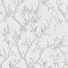Laos Trail White/Gray Removable Wallpaper Sample