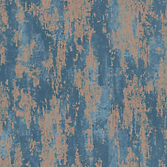 Industrial Texture Blue/Copper Removable Wallpaper Sample