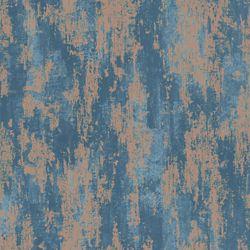 Graham & Brown Texture Industrielle Bleu/Cuivre - Échantillon de Papier Peint