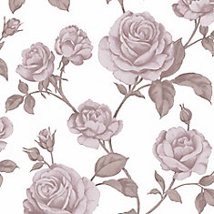 Countess Pink/White Removable Wallpaper Sample