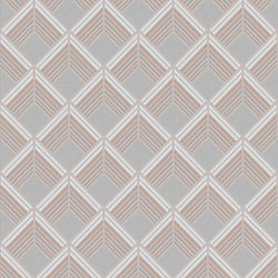 Graham & Brown Trifina Geo Grey/White/Rose Gold Removable Wallpaper